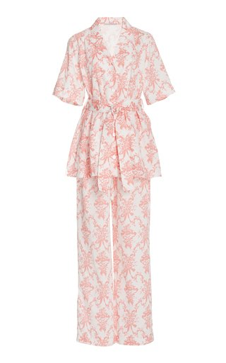 Fifi Printed Cotton Pajama Set