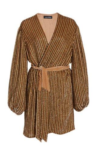 Gabrielle Sequined Wrap Dress