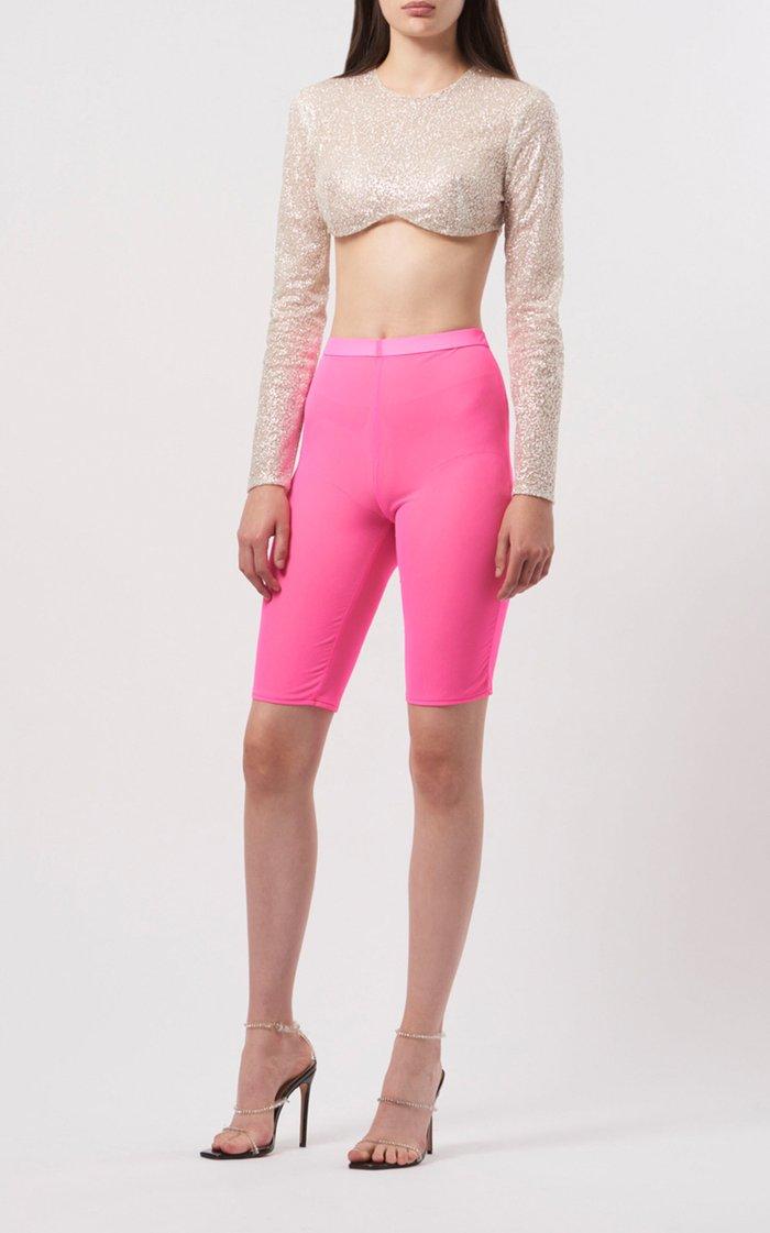 Mesh-Jersey Knee-Length Shorts