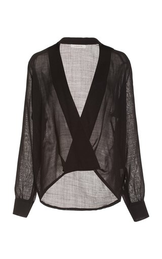 Adele Wool Wrap-Front Top