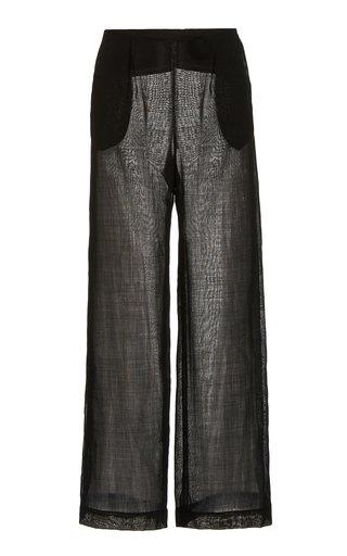 Calypso Wool-Blend Wide-Leg Trousers