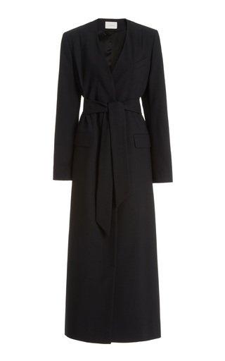 Virginia Belted Wool Blazer Dress