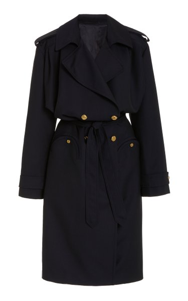 Spirit Wait Wool Double-Breasted Trench Coat