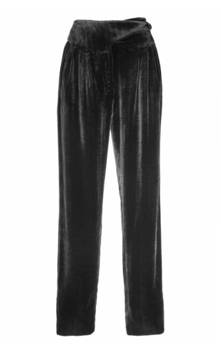 Etoile Basque Pleated Cotton Velvet Trousers