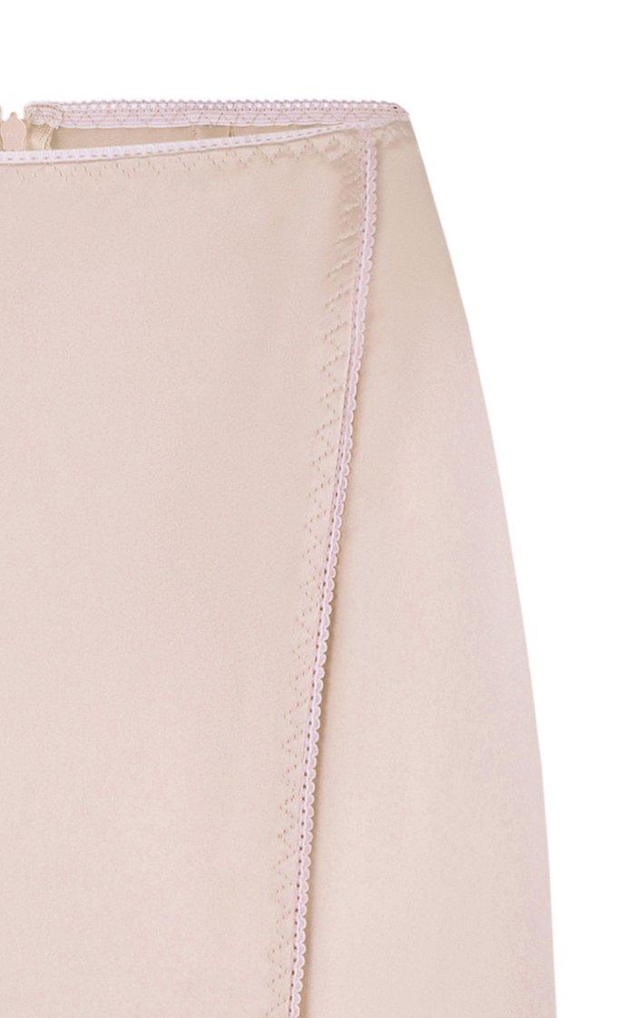 Dara Satin Midi Skirt