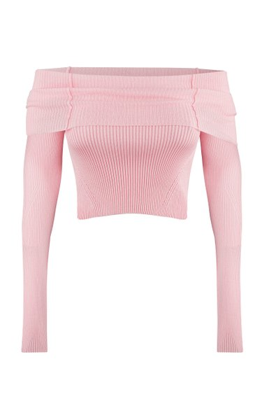 Anechka Ribbed-Knit Off-The-Shoulder Top