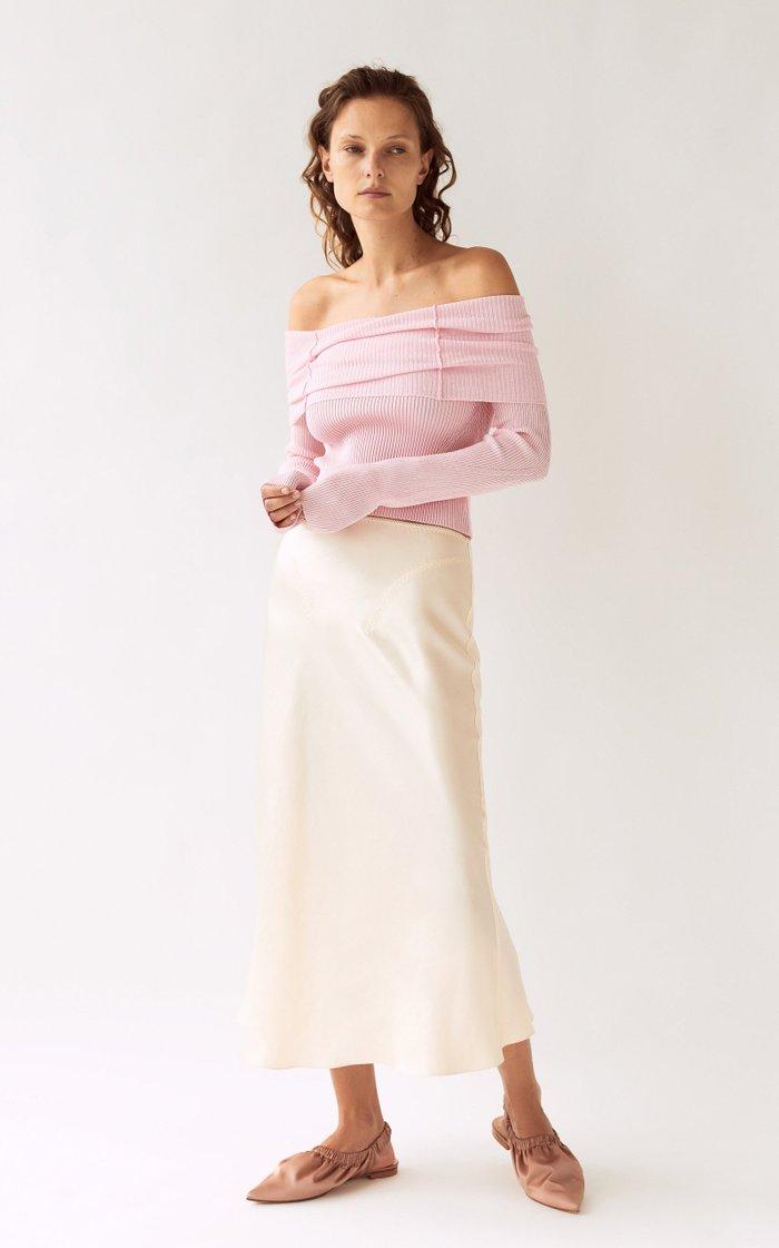 Champaca Satin Midi Skirt