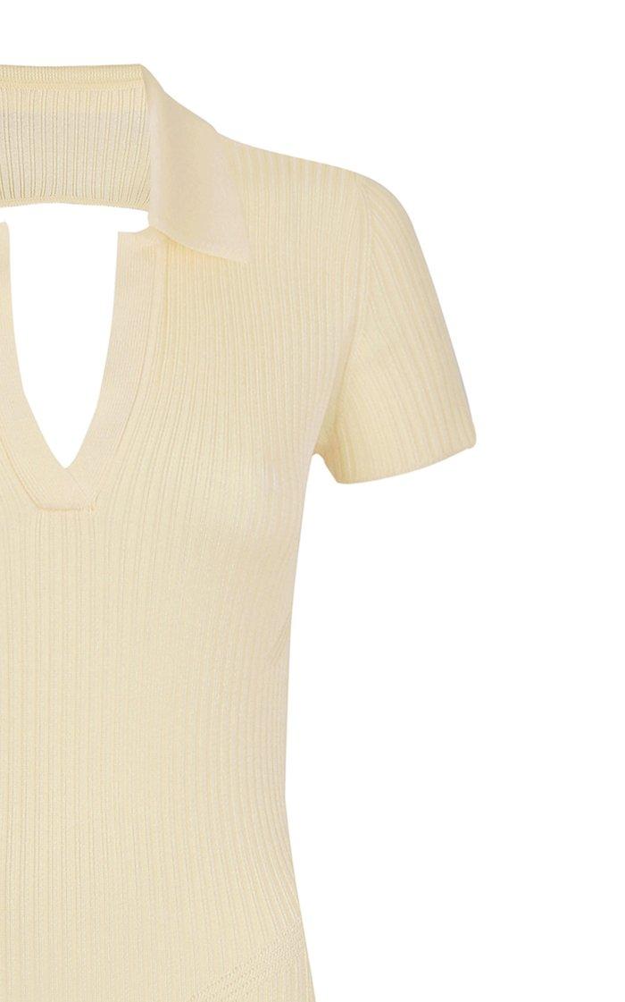 Ella Ribbed-Knit Backless Maxi Dress