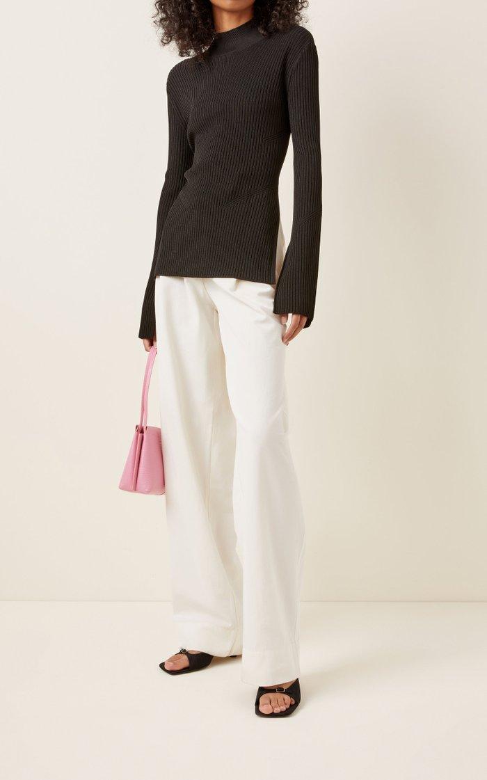 Peli Ribbed-Knit Backless Top