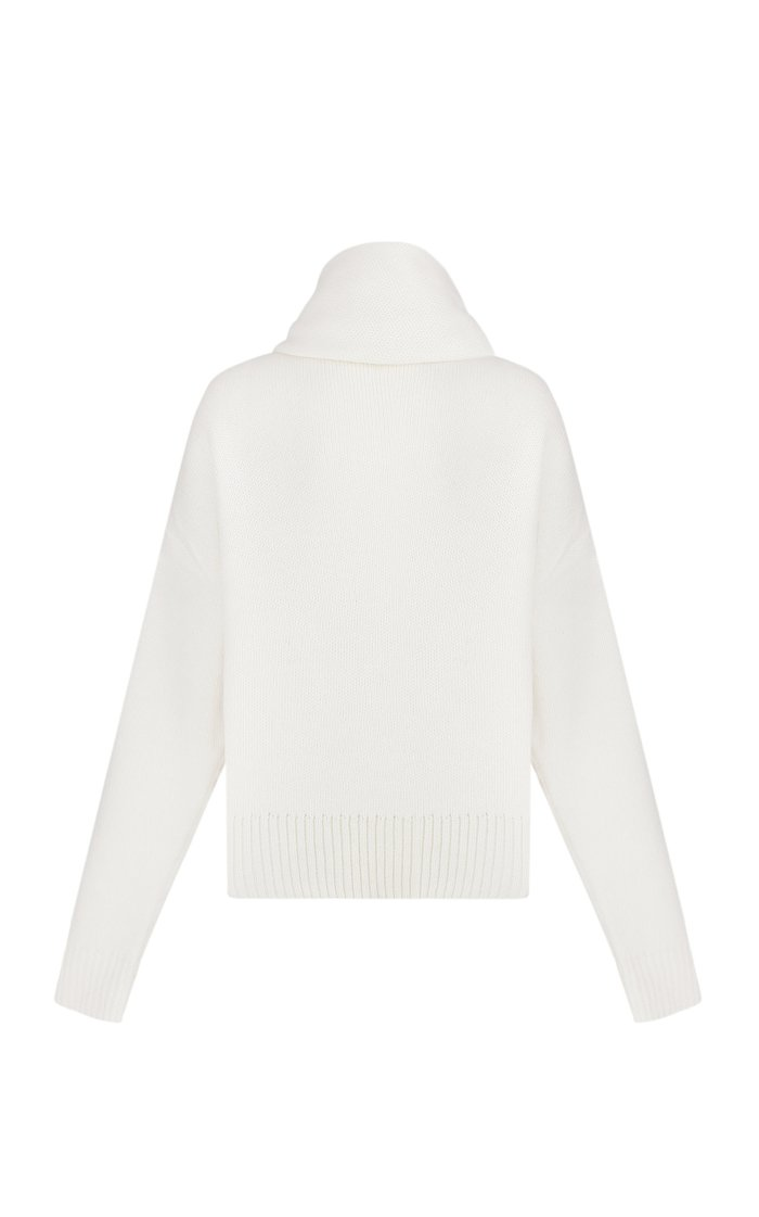 Celia Oversized Wool-Blend Scarf-Neck Sweater