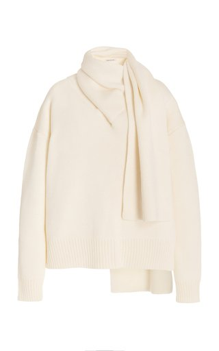 Celia Oversized Wool-Blend Scarf-Neck Sweater