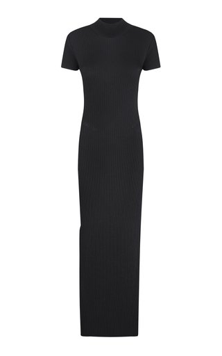 Ksenia Ribbed-Knit Backless Maxi Dress