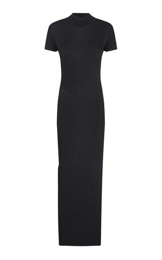 Ksenia Ribbed-Knit Backless Maxi Dress