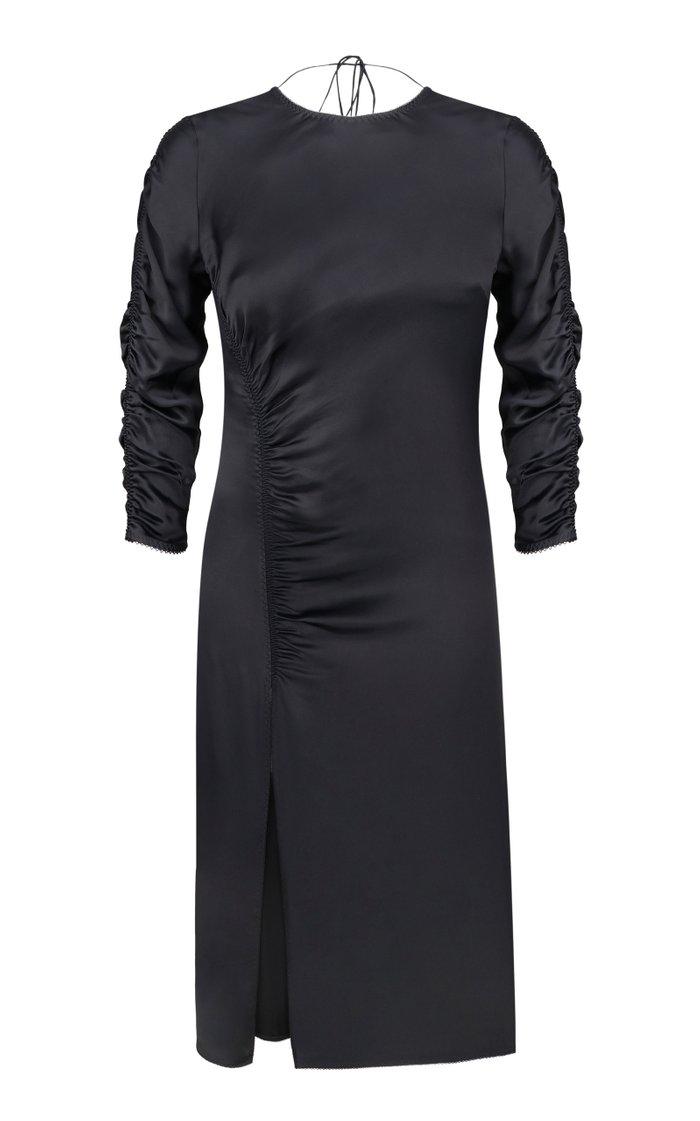 Cinnamon Ruched Midi Dress