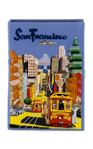 San Francisco Embroidered Book Clutch