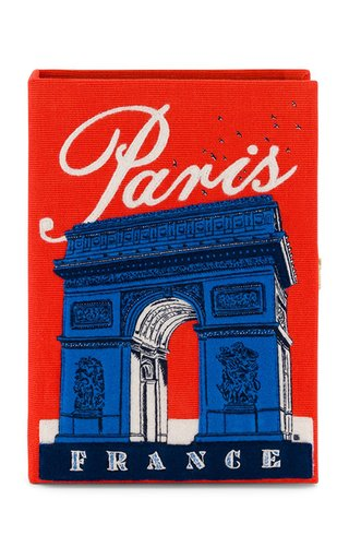 Arc De Triomphe Embroidered Book Clutch