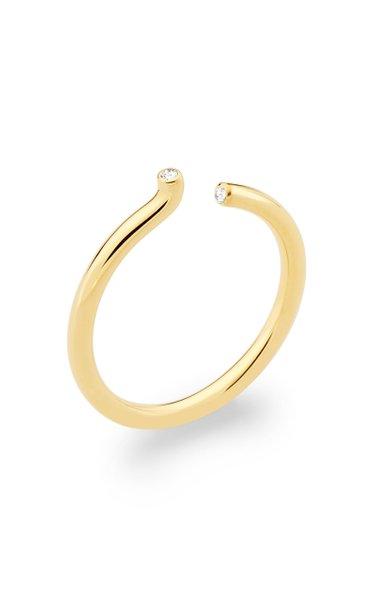 Rock Asymmetric Diamond 18K Yellow Gold Ring