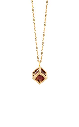 Perpetual Motion Tourmaline 18K Yellow Gold Necklace