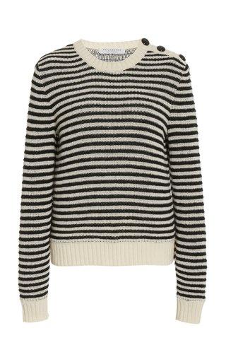 Striped Eco-Cashmere Sweater