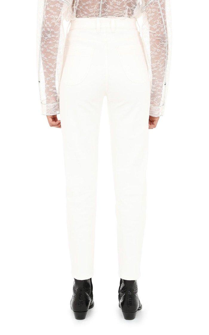 Cotton Duchesse Cigarette Pants