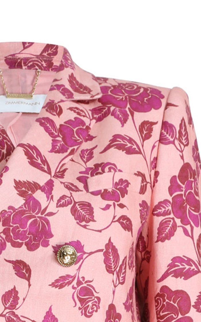 The Lovestruck Printed Linen Tuxedo Jacket