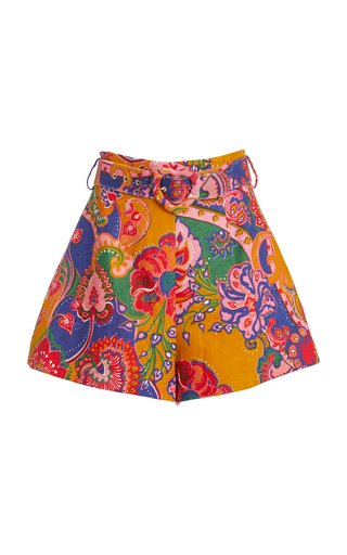 The Lovestruck Printed Linen Shorts
