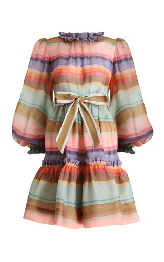 The Lovestruck Rainbow Silk Mini Dress