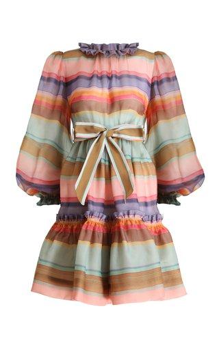 The Lovestruck Rainbow Silk Mini Dress