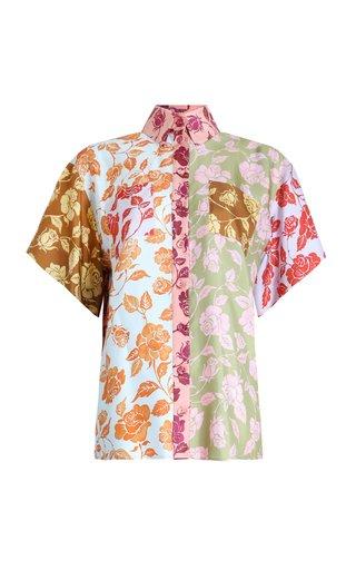 The Lovestruck Paneled Silk Shirt