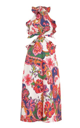 The Lovestruck Printed Linen Midi Dress
