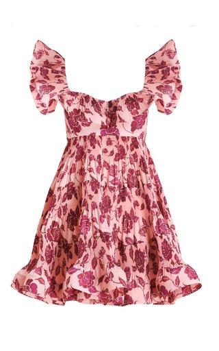 The Lovestruck Tiered Poplin Mini Dress