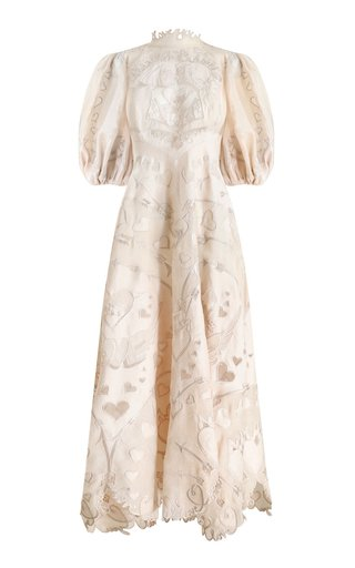 The Lovestruck Silk-Linen Lace Gown