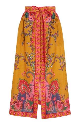 The Lovestruck Buttoned Linen Skirt