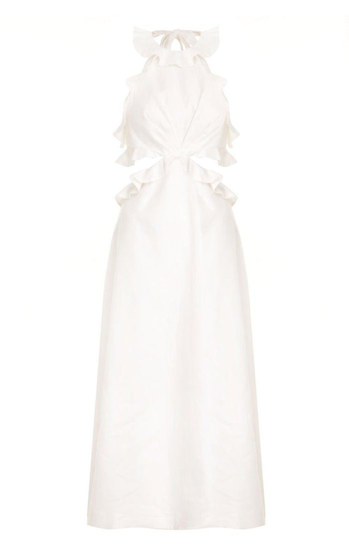 The Lovestruck Linen Midi Dress