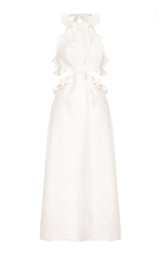 The Lovestruck Linen Midi Dress