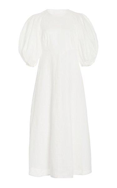 Linen Midi Day Dress