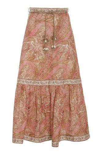 Brighton Linen Midi Skirt
