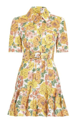 Poppy Belted Linen Mini Dress