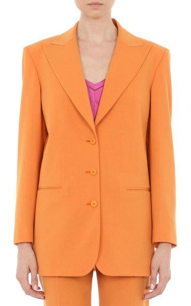 Wool-Blend Gabardine Single-Breasted Blazer
