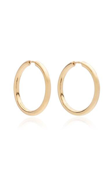 Classic 9k Gold-Plate Medium Hoop Earrings