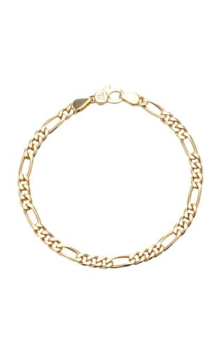 Figaro 9k Gold-Plate Chain-Link Bracelet