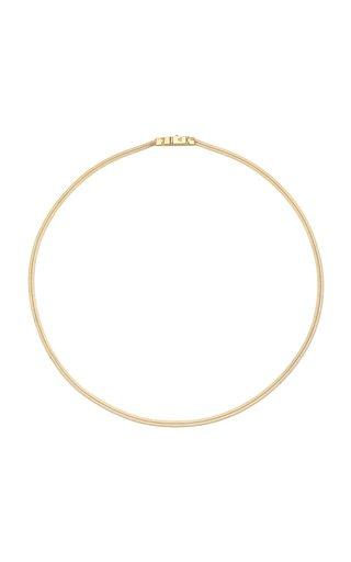 Herringbone 9k Gold-Plate Chain Necklace