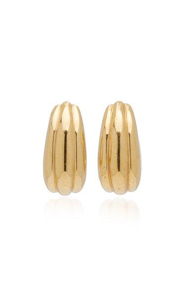 Medium Ice Hoop Gold-Plated Earrings