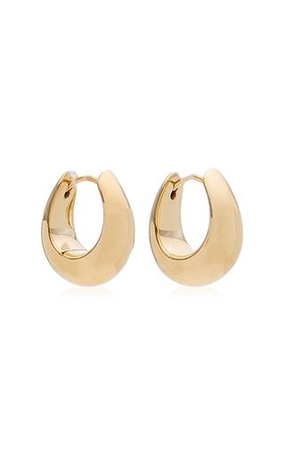 Small Ice Hoop Gold-Plated Earrings