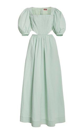 Astro Puff-Sleeve Cutout Maxi Dress