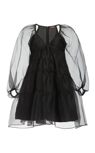 Meadow Crinkled Organza Mini Dress