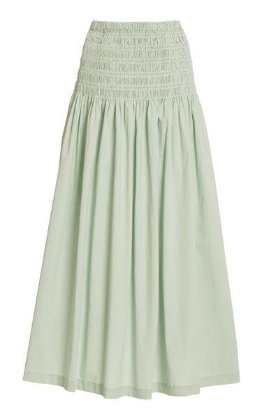 Sunday Smocked Poplin Maxi Skirt