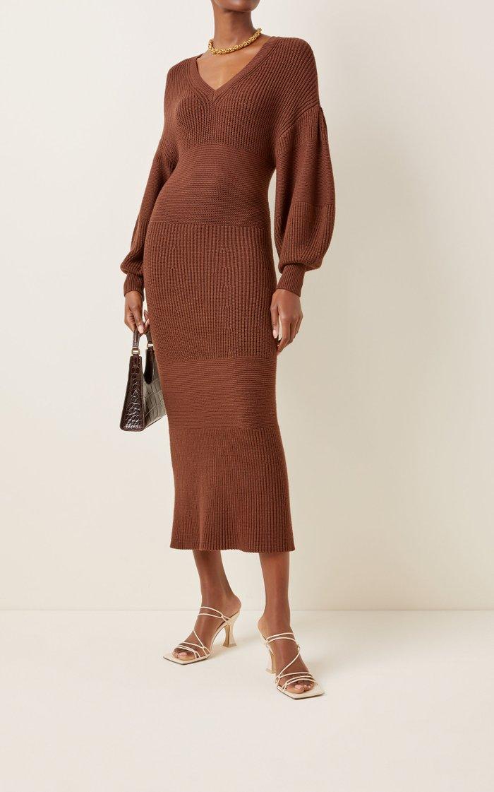 Carnation Knitted Midi Dress