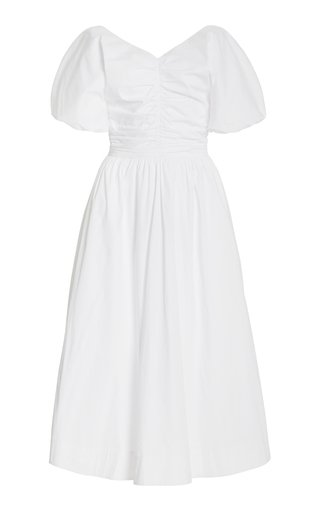 Greta Cotton-Poplin Midi Dress