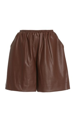 Clark Vegan Leather Shorts